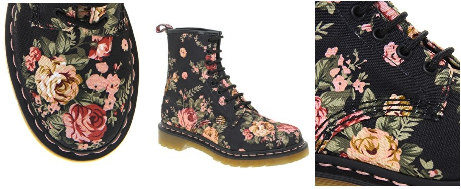 Floral doc martens beauty 101 mightylinksfo Image collections